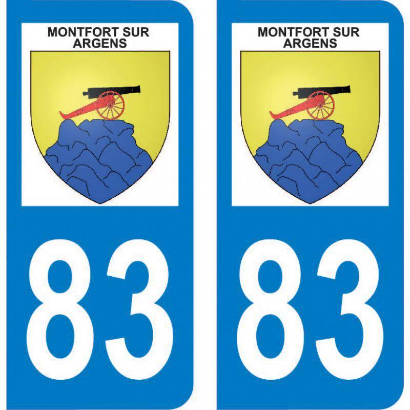 Autocollant Plaque Montfort-sur-Argens 83570