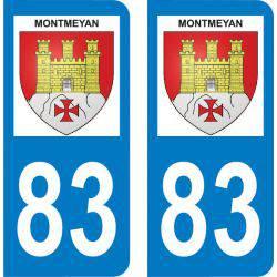 Autocollant Plaque Montmeyan 83670