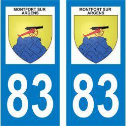 Sticker Plaque Montfort-sur-Argens 83570