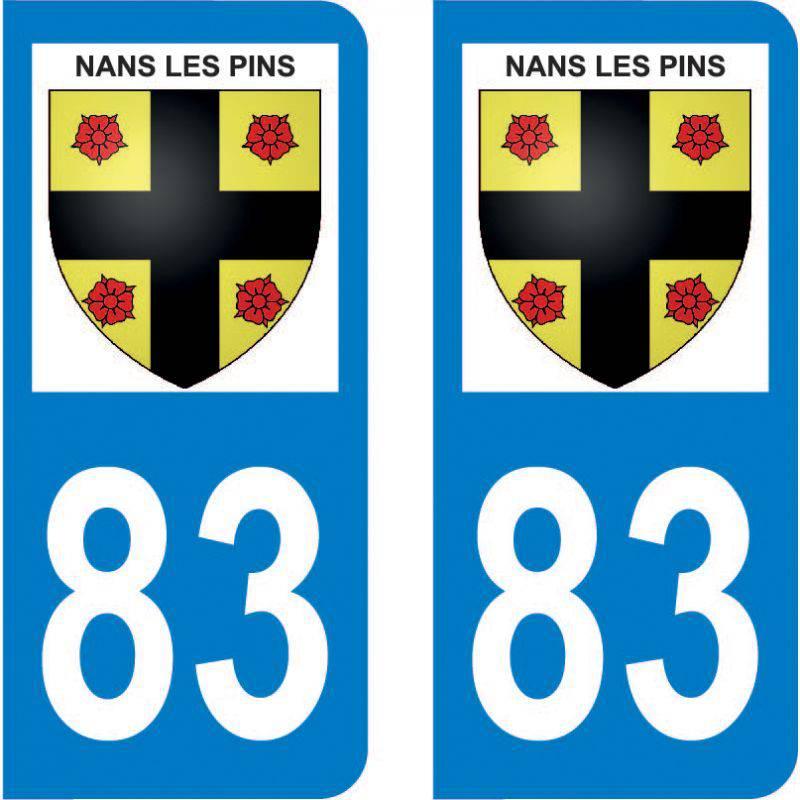 Autocollant Plaque Nans-les-Pins 83860