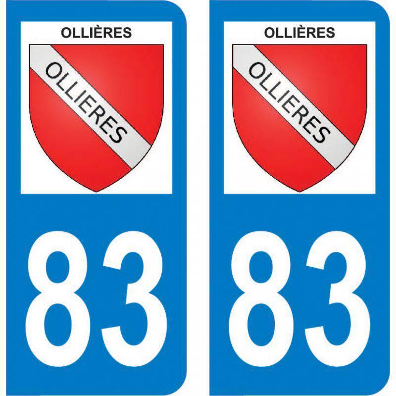 Autocollant Plaque Ollières 83470