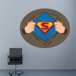 Sticker Mural Super Dollar
