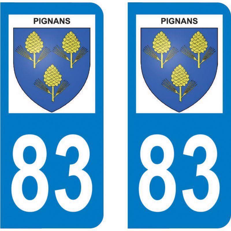 Autocollant Plaque Pignans 83790