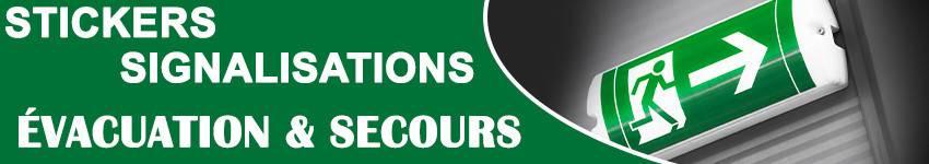 Stickers Évacuation & Secours