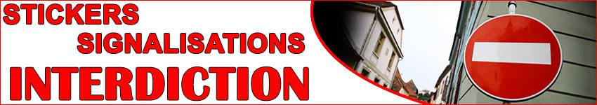Autocollant De Signalisation d' Interdiction | ZoneStickers