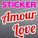 Stickers Amour Voiture