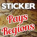 Stickers Regions Pays