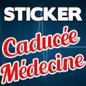 Stickers Caducée Médecine