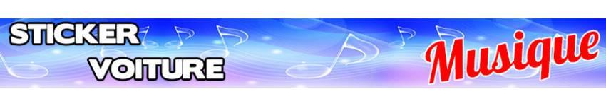 Sticker musique voiture - Autocollant Musique Voiture | Zone-Stickers