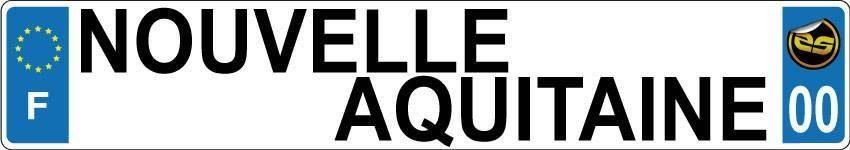 Sticker Immatriculation Nouvelle Aquitaine