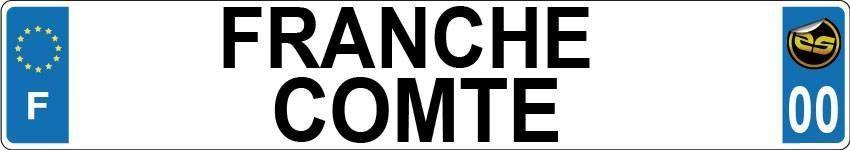 Sticker Immatriculation Franche Comte
