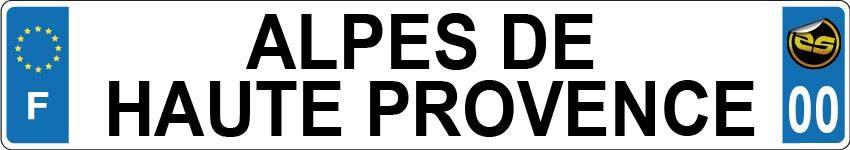 Sticker Plaque Alpes de Haute Provence