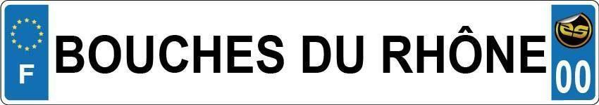 Sticker Plaque Bouches du Rhône