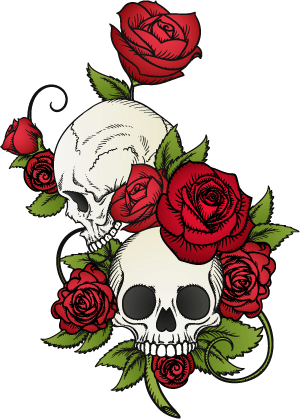 Skull-Rose