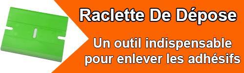 Raclette pour enlever les adhésif